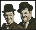 Mini Laurel and Hardy - Cross Stitch Chart