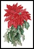 Mini Poinsettia - Cross Stitch Chart