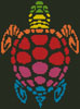 Mini Rainbow Turtle - Cross Stitch Chart