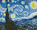 Mini The Starry Night Blue - Cross Stitch Chart