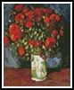 Mini Vase with Red Poppies - Cross Stitch Chart