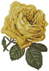 Mini Yellow Rose 2 - Cross Stitch Chart