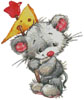 Mouse with Cheese - Cross Stitch Chart