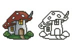 Mushroom House - Cross Stitch Chart