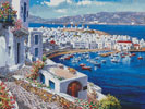 Mykonos Harbor - Cross Stitch Chart