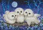 Owl Triplets - Cross Stitch Chart