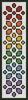 Rainbow Bookmark - Cross Stitch Chart