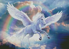 Rainbow Pegasus - Cross Stitch Chart