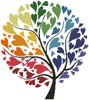 Rainbow Tree of Hearts - Cross Stitch Chart