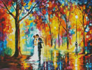 Rainy Wedding (Large) - Cross Stitch Chart