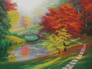 Red Trees in Autumn - Cross Stitch Chart