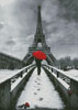 Red Umbrella at the Eiffel Tower - Cross Stitch Chart
