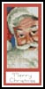 Santa Bookmark 3 - Cross Stitch Chart