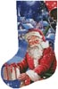 Santa in a Hot Air Balloon Stocking (Left) - Cross Stitch Chart