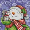 Snowman with Squirrel - Cross Stitch Chart