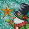Snowman with Star - Cross Stitch Chart