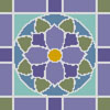 Stained Glass Square 2 - Cross Stitch Chart