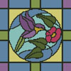 Stained Glass Square 4 - Cross Stitch Chart