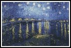 Starry Night over the Rhone - Cross Stitch Chart