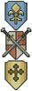 Swords and Shields Bookmark - Cross Stitch Chart