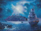 The Call of the Moon (Large) - Cross Stitch Chart