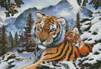 Tiger Dawn - Cross Stitch Chart