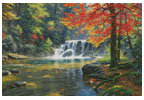 Tranquil Falls (Large) - Cross Stitch Chart