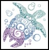 Turtle Silhouette - Cross Stitch Chart