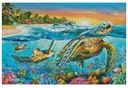 Underwater Turtles - Cross Stitch Chart