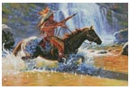 Warrior Crossing - Cross Stitch Chart