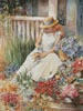 Girl with Flowers (Large) - Cross Stitch Chart