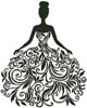 Woman Silhouette - Cross Stitch Chart