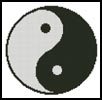 Yin and Yang - Cross Stitch Chart