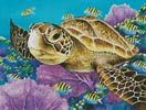 Young Green Sea Turtle - Cross Stitch Chart
